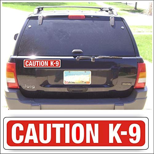 (Magnet Magnetic Sign - Caution K-9 for Car Or Truck with Pets Show Canine Or Guard Dogs - 3 x 14 inch Block Sold as Each)
