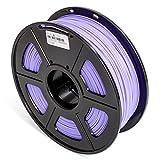 DAZZLE LIGHT 3D Printer PLA Filament 1.75mm Dimensional Accuracy +/- 0.02 mm 2.2 LBS (1KG) Spool, Purple