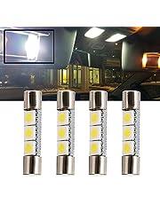 nslumo blanco LED 28mm-31mm 5630SMD Bombilla de luz del espejo de 6614fusible LED Luz 6641ts-14V1C para interior sol visera espejo de tocador