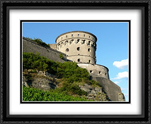 - Fortress Marienberg in Wurzburg, Germany 2X Matted 34x28 Large Black Ornate Framed Art Print by The Cityscape Art Print Series