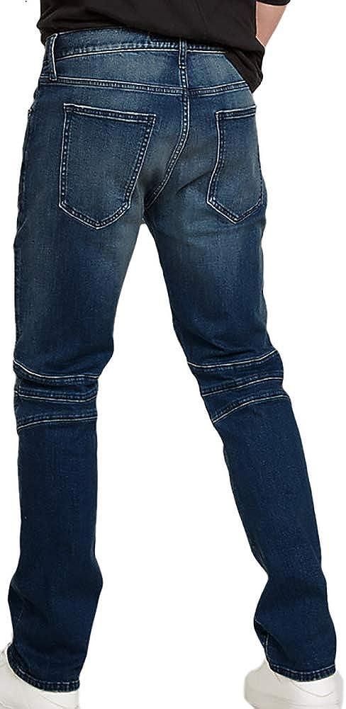 Amazon Com Express 0020 Pantalones Vaqueros Para Hombre Ajustados Diseno De Pierna Color Azul 36 Cintura X 34 Largo Clothing