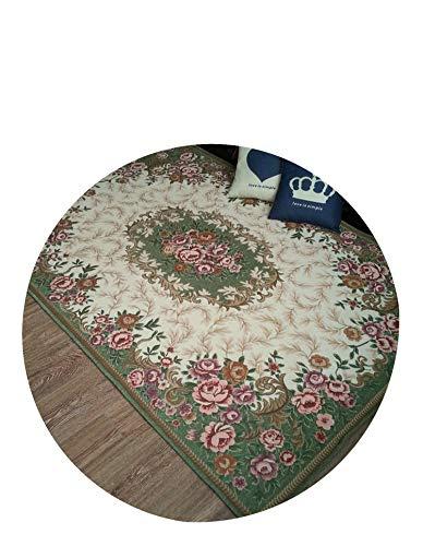 Anti-Skid Jacquard Carpet for Living Room/Dining Bedroom Mat Floral Modern Pattern Absorbent Non-Slip Modern Carpet Mug,Green,90Cmx140Cm