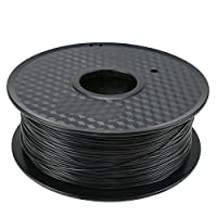 TIANSE Black 1.75mm PLA 3D Printer Filament Dimensional Accuracy +/- 0.03 mm 2.2 pound Spool from TIANSE