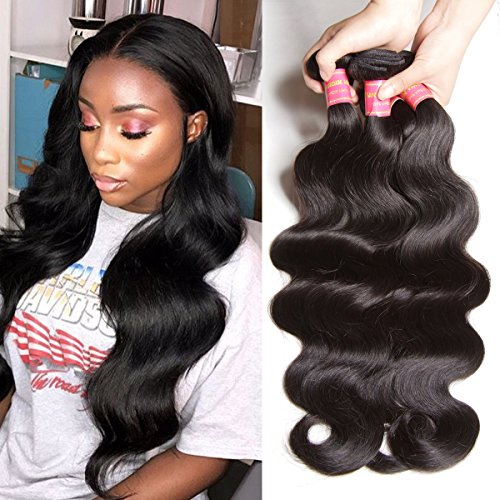 - YIROO Brazilian Body Wave Bundles Human Virgin Hair 100% Unprocessed Double Weft Extensions 95-100g/pc Natural Color Hair for Black Women (18 20 22inch, Natural Color)