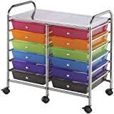 Double Storage Cart with 12 Drawers - Multicolor 1 pcs sku# 633666MA