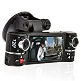 "inDigi® 2.7"" TFT LCD Dual Camera Rotated Lens Car DVR Vehicle Video Recorder"