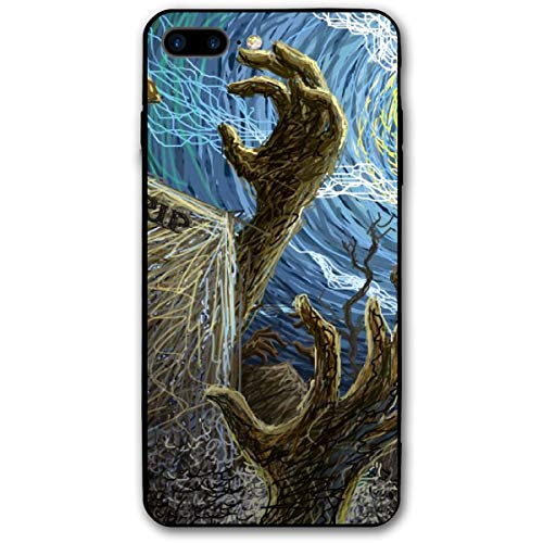 TPSXXY-8 Halloween Painted Wallpaper Phone Shell Shock Absorption Bumper Case Enhanced Grip Protective Defender Cover for iPhone 7/8 Plus -