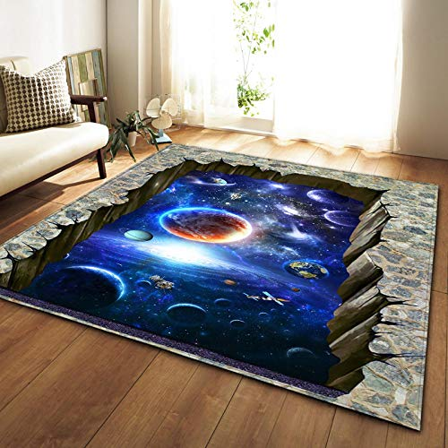 Carpet - Nordic Carpets Soft Flannel 3D Printed Area Rugs Parlor Galaxy Space Mat Rugs Anti-Slip Large Rug Carpet for Living Room Decor - by Chamomile