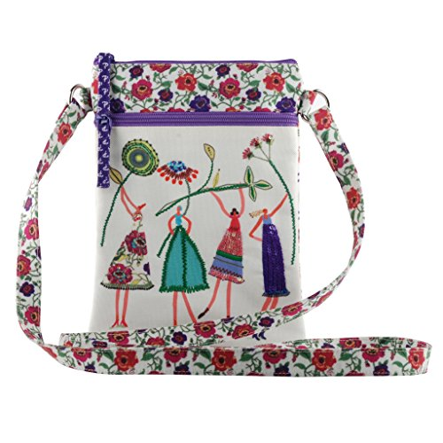 Crossbody slingbag purse tote shoulder travel bag smooth zipper women girls ()