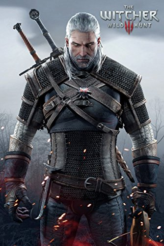 Witcher 3 Wild Hunt Geralt of Rivia Video Game Poster (24 x 36 inches)