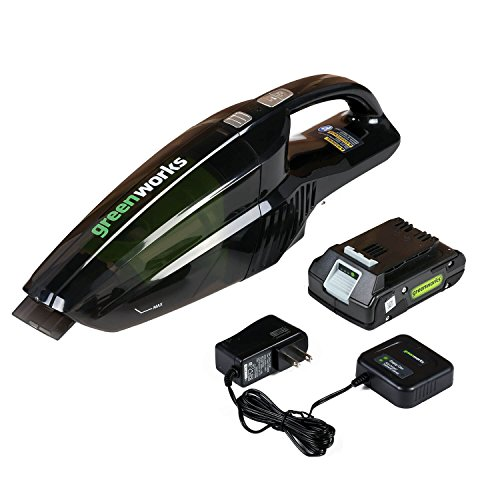 Greenworks 24V Cordless Handheld Vacuum, 2.0 AH Battery Included BVU24210