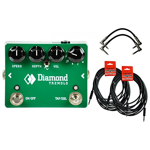 - Diamond Tremolo - Opto Tremolo Pedal w/ 4 Cables