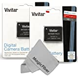 (2 Pack) Vivitar NB-11L / NB-11LH Ultra High Capacity 1200 mAh Li-ion Battery for CANON PowerShot SX410 IS, SX400 IS, ELPH 170 IS, 340 HS 320 HS 130HS 110 HS 1150 HS, A2300 IS A2400 IS A2500 A2600 A3400 IS A3500 ISA4000 Cameras (Canon NB-11L / NB-11LH Replacement)
