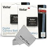 (2 Pack) Vivitar NB-11L / NB-11LH Battery Set for Canon PowerShot Elph 160, Elph 170 IS, Elph 180, Elph 190 IS, Elph 320 HS, Elph 340 HS, Elph 350 HS, Elph 360 HS, SX400 IS, SX410 IS, SX420 IS
