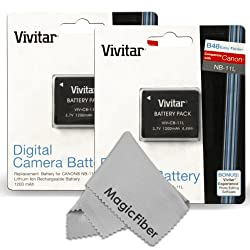 (2 Pack) Vivitar Nb-11l Nb-11lh Battery Set For Canon Powershot Elph 160, Elph 170 Is, Elph 180, Elph 190 Is, Elph 320 Hs, Elph 340 Hs, Elph 350 Hs, Elph 360 Hs, Sx400 Is, Sx410 Is, Sx420 Is