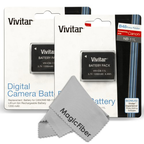 Vivitar NB-11L / NB-11LH Battery Set for Canon PowerShot El