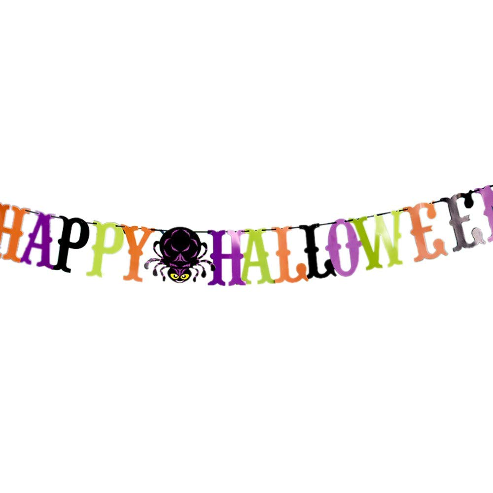 Halloween Banner Bunting Party Favors Decorations Halloween Props Best Halloween Decoration (F)
