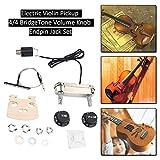 Electric Violin Pickup Preamp Set 4/4 BridgeTone Volume Knob Endpin Jack Set Instruments Accessories
