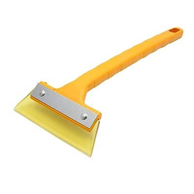 uxcell Yellow Auto Car Windshield Window Ice Silicone Scraper Snow Remover Shovel Wiper: Automotive