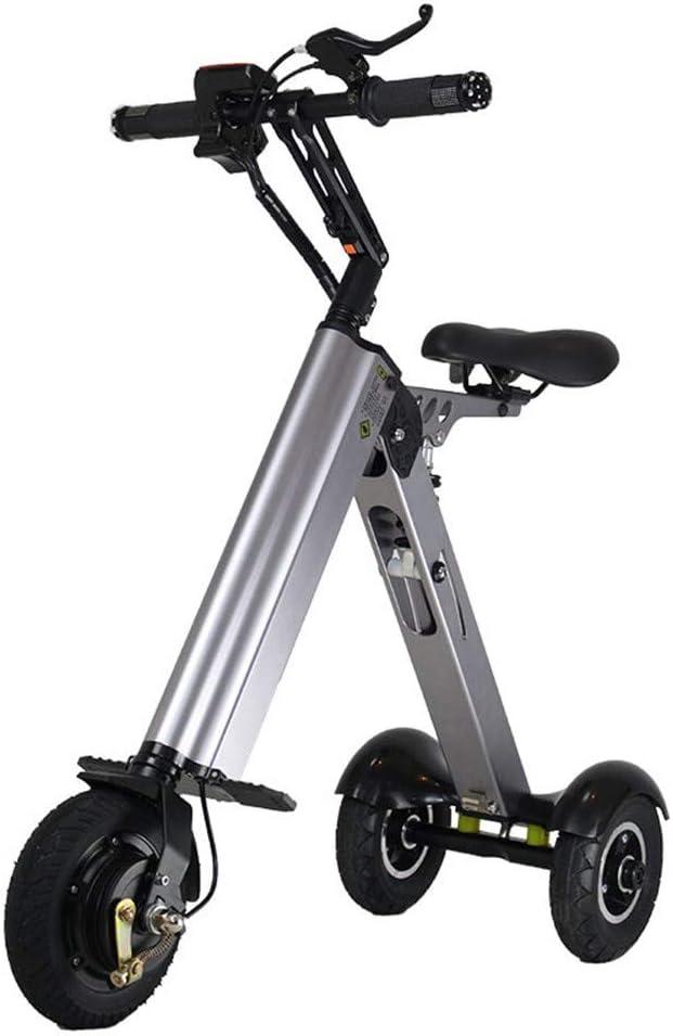 XMIMI Mini Triciclo eléctrico Plegable Pequeña generación Mini ciclomotor Mini batería Coche Batería de absorción de Doble Choque 30