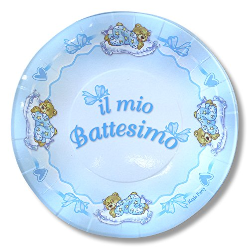 (magic Party pep04–In Christening Paper Plate Diameter 21cm, (Pack of 10),)