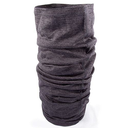 Wool Natural Long (MERIWOOL Unisex Merino Wool Neck Gaiter - Charcoal Gray)