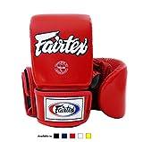 Fairtex Muay Thai Bag gloves TGO3 - Super Sparring Bag Gloves - Open Thumb - Red, Large