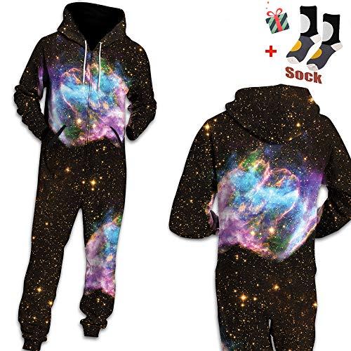 De À Pyjama Adult Manche Sweat Morbuy Violet Vêtement Longues Imprimé Homme Costume Family Sweatshirt Noir Pièce Une Zip Onesie Jumpsuit Nuit 3d Capuche pSxtwxnUq7