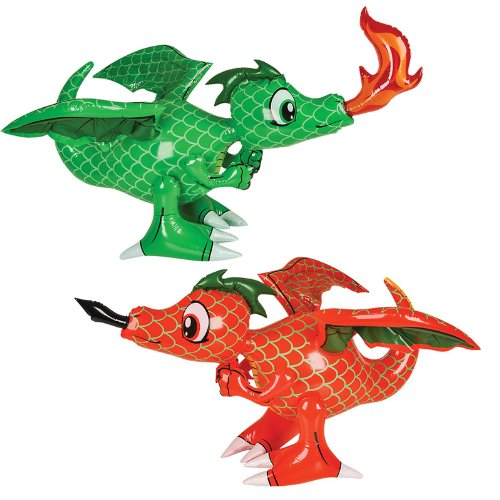 Inflatable 30 Inch Dragon Colors Green