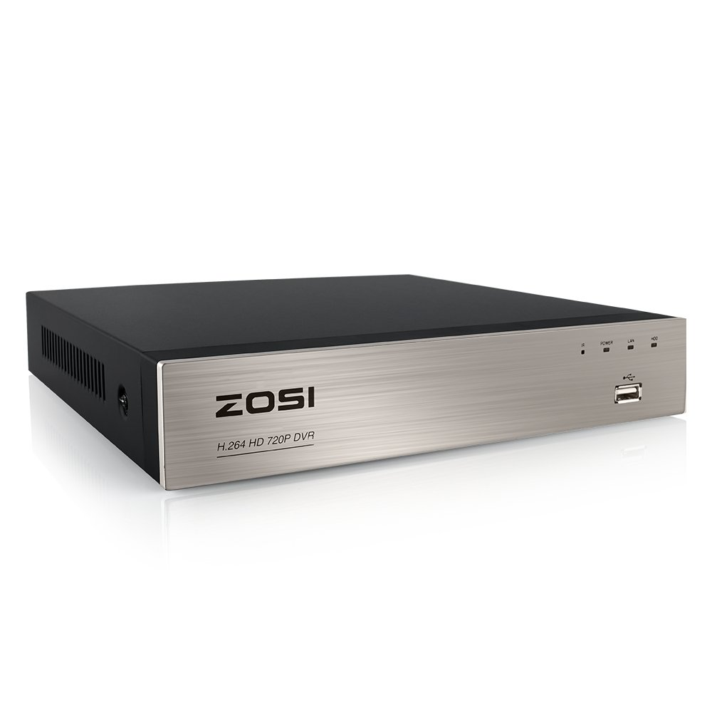 ZOSI 8Channel Surveillance Video Recorders 1080N/720P 4-in-1 HD-TVI Standalone CCTV Security DVR System For 720P,1080P Security Cameras,Motion Detection,Easy Remote Access(NO Hard Drive) by ZOSI