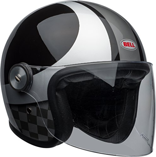 Bell LE Riot Checks Black/Silver Open Face Helmet MD