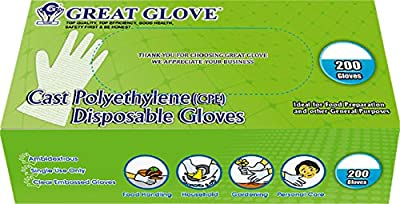 GREAT GLOVE Cast Polyethylene PE Foodservice FFDCA Approved Glove
