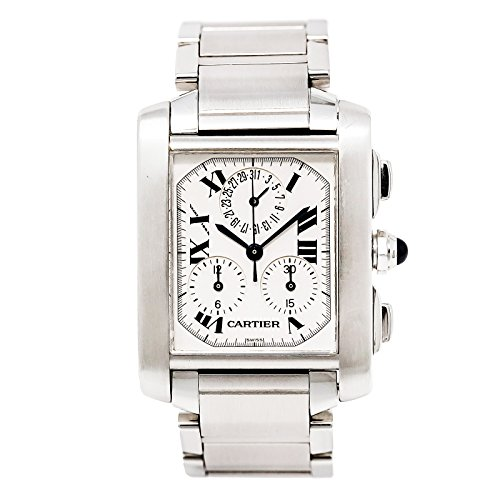 Cartier Tank Francaise swiss-quartz mens Watch 2303 (Certified Pre-owned)