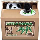 Hucha Coin Box---Los animales monos roban su dinero(PANDA BLANCA)