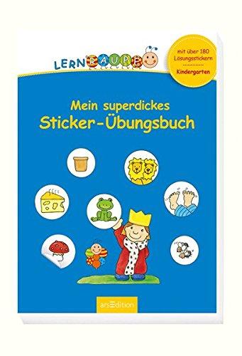 Lernraupe - Mein superdickes Sticker-Übungsbuch (Kindergarten-Lernraupe)