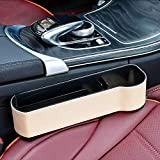 Car Storage Car Console Side Organizer Pocket Multifunction Universal Leather Beige for All Kinds of Cars