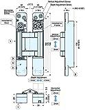 Sugatsune HES3D-E190 3-Way Adjustable Invisible