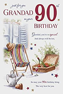 For You Grandad 90 90th Happy Birthday Potting Shed Design Good Quality Card With A Lovely
