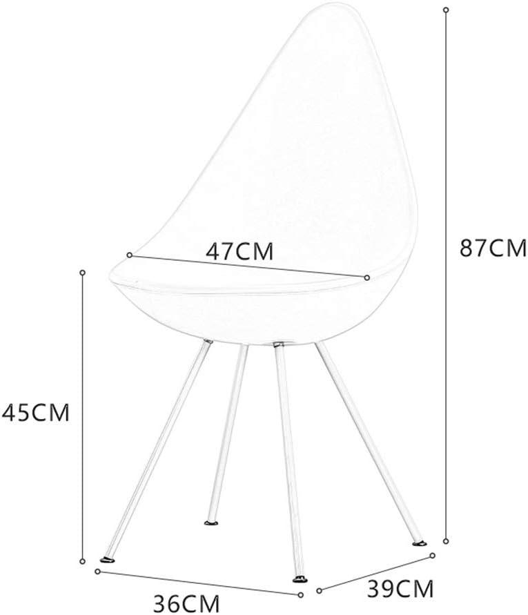 Chaise Chaises De Salle À Manger, Moderne Simple Chaise Tulipe Chaise De Bureau Mode Café Ménage Plastique Loisir Fauteuil De Toilette (Color : White) Blue