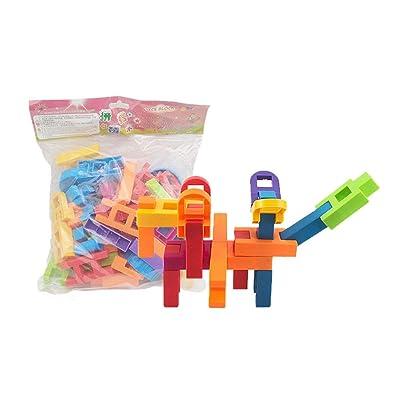 Quskto Juguete Educativo Clásico Bloques Huecos de Aprendizaje Inteligentes del palillo de Las Unidades de creación Grandes para el Regalo de los niños de los niños (Color : Multi-Colored): Hogar