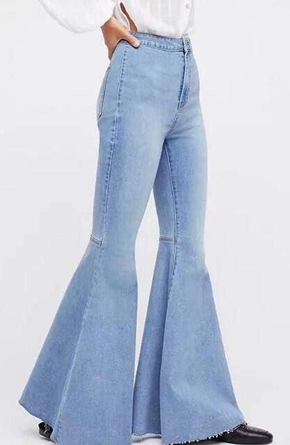 cdbbf97de70 Skirt BL Women s Plus Size Wide Leg Bootcut Capri Palazzo Jean Pants Suits  Blue  Amazon.ca  Clothing   Accessories