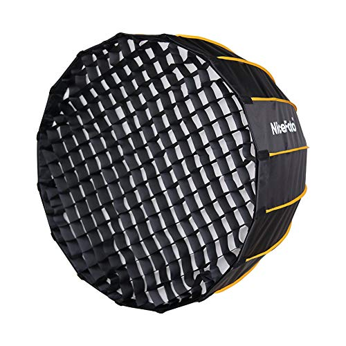 Nicefoto 47.2 inches/120cm Parabolic Softbox Professional Quick Set-up Deep Soft Box with Grid and Bowen Mount for Studio Flash LED Light Photography