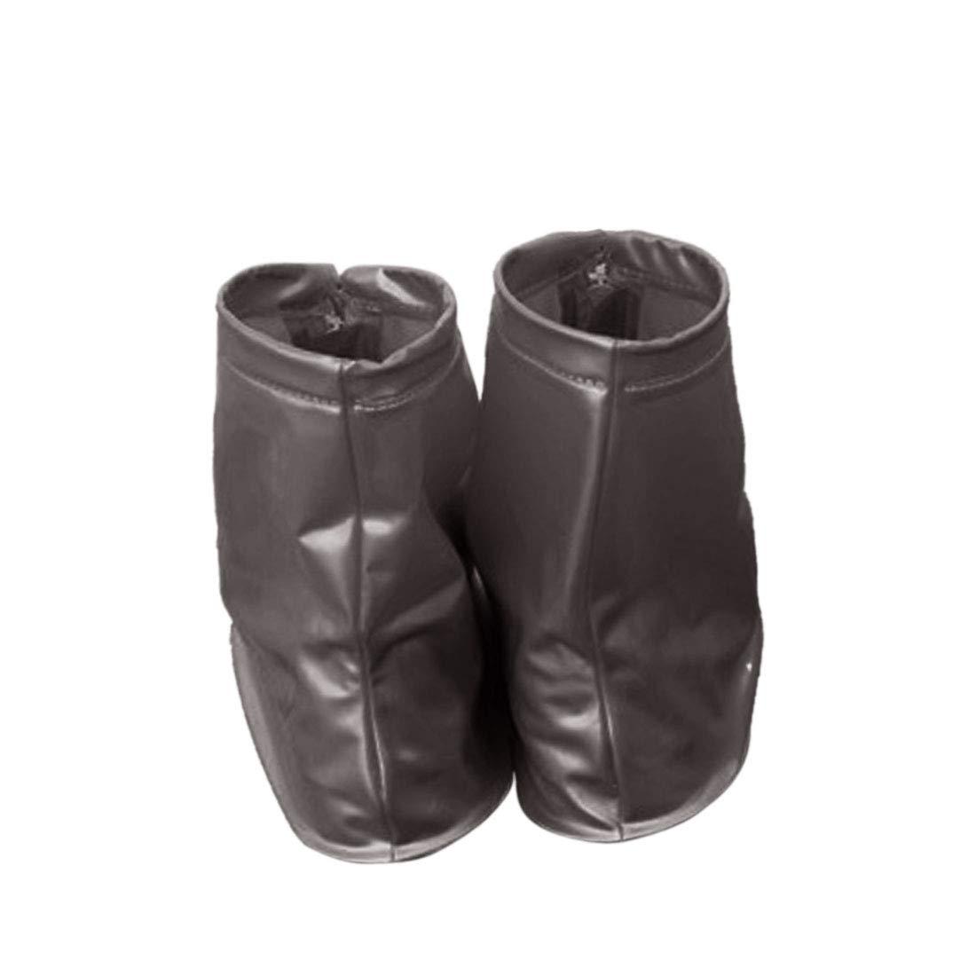 Sourcingmap/® 1 Pair Unisex PVC Zipper Closure Nonslip Reusable Waterproof Rain Shoes Cover Guard Overshoes Protection
