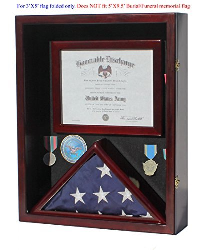 .com - military shadow box 3'x5' flag display case, for 3'x5 ...
