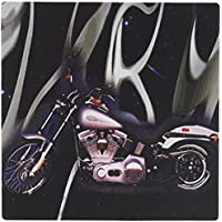 3dRose LLC Picturing Harley-Davidson Motorcycle Pattern Mouse Pad (mp_145_1)