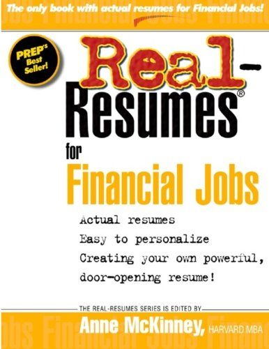 Download Real Resumes for Financial Jobs ebook