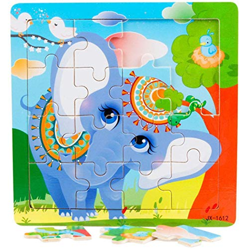 Xuprie Kids Wooden Various Pattern Puzzles Toys Early Educational Learning Toys Pegged Puzzles from xuprie