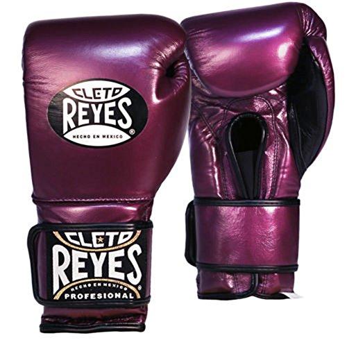 Cleto Reyes Hook & Loop Training Gloves - Regular Padding - Purple 12-Ounce
