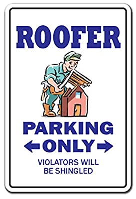[SignJoker] ROOFER ~Sign~ parking roofing shingles nails metal roof Wall Plaque Decoration by SignJoker
