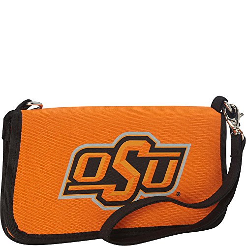 Oklahoma State University Canvas Clutch (State University Ladies Purse)